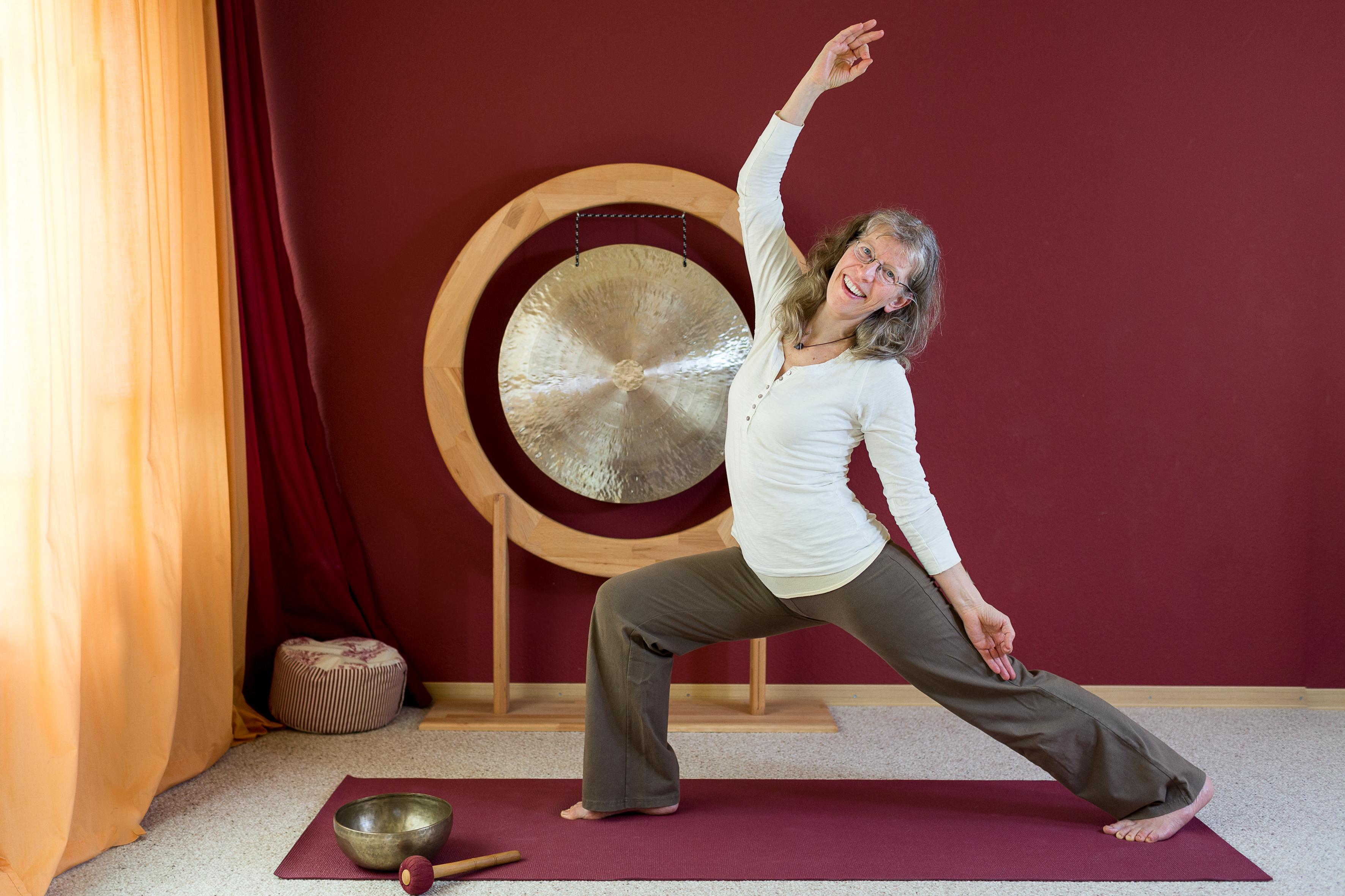 Yogabild mit Gong 2